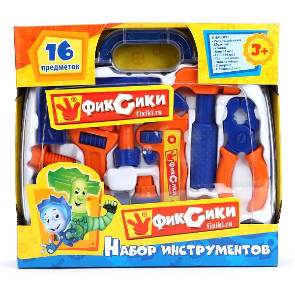 Набор детских инструментов серии Фиксики, в чемоданчикеДетские мастерские, инструменты<br>Набор детских инструментов серии Фиксики, в чемоданчике<br>