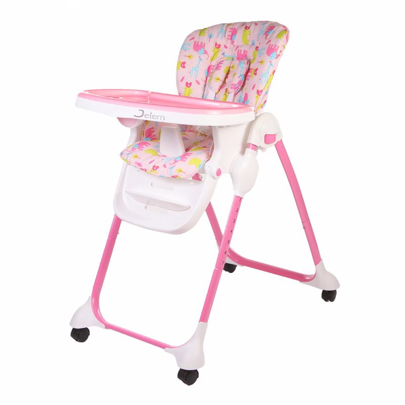 Детский стульчик для кормления Jetem – Bon Appetit, светло-розовыйСтульчики для кормления<br>Детский стульчик для кормления Jetem – Bon Appetit, светло-розовый<br>