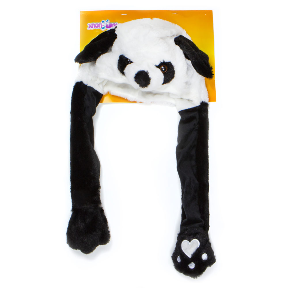 Шапка детская из серии Хлоп-Ушки - Панда