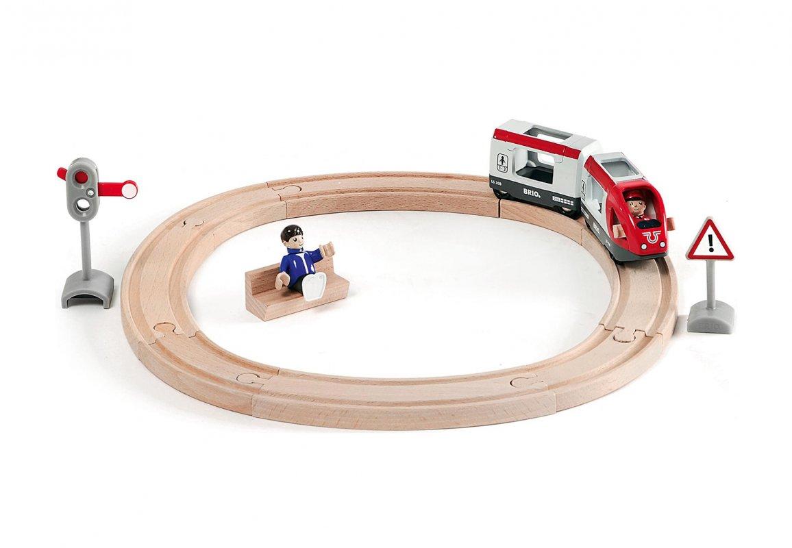 Купить Железная дорога со светофором и экспресс-поездом, 15 элементов, Brio