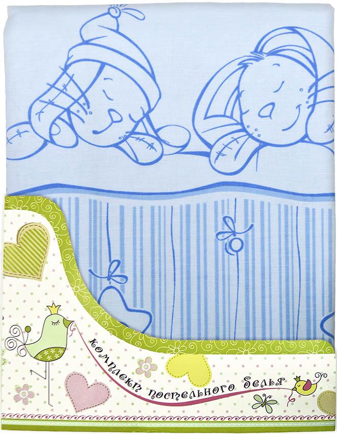 Купить Комплект постельного белья Зая-Зай, голубой, Золотой гусь