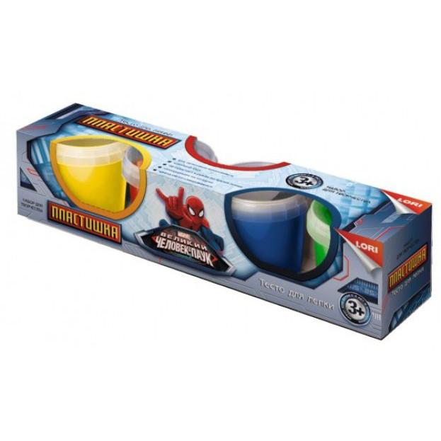 Тесто для лепки Marvel - Человек-паук, 4 цветаНаборы для лепки<br>Тесто для лепки Marvel - Человек-паук, 4 цвета<br>