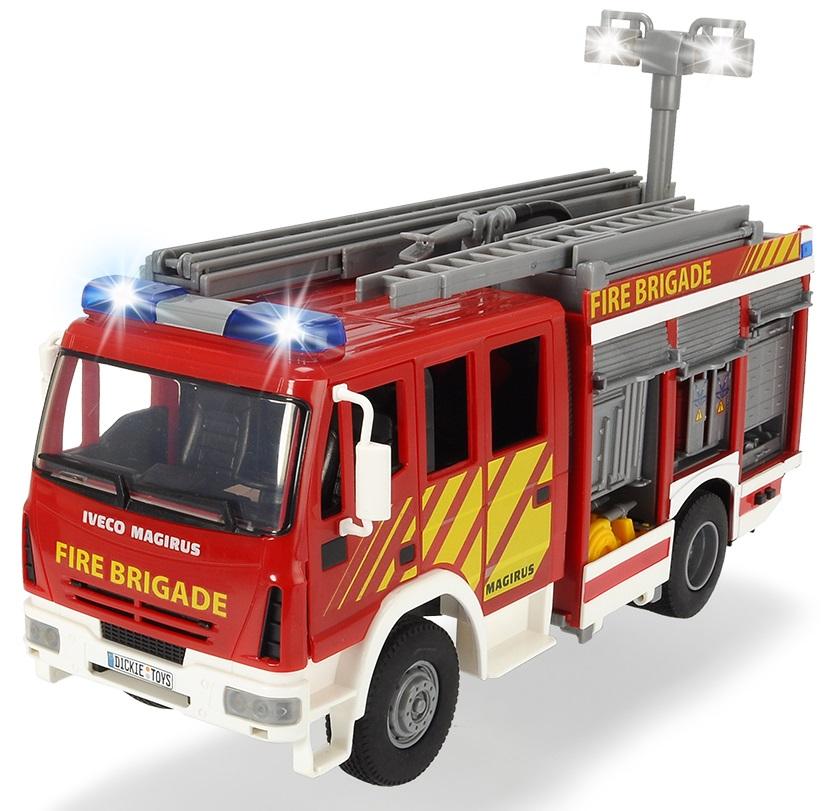 Пожарная машина с водой, 30 см, свет и звук, свободный ход - Пожарные машины, автобусы, вертолеты и др. техника, артикул: 170626