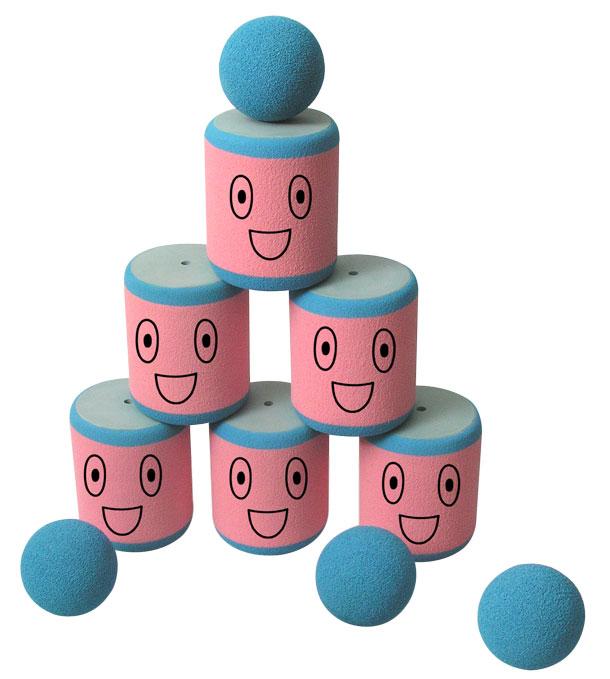 Игрушка – Городки, 6 банокРазное<br>Игрушка – Городки, 6 банок<br>
