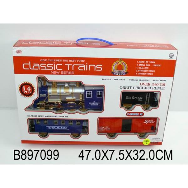 Поезд Classic Trains свет, звукДетская железная дорога<br>Поезд Classic Trains свет, звук<br>