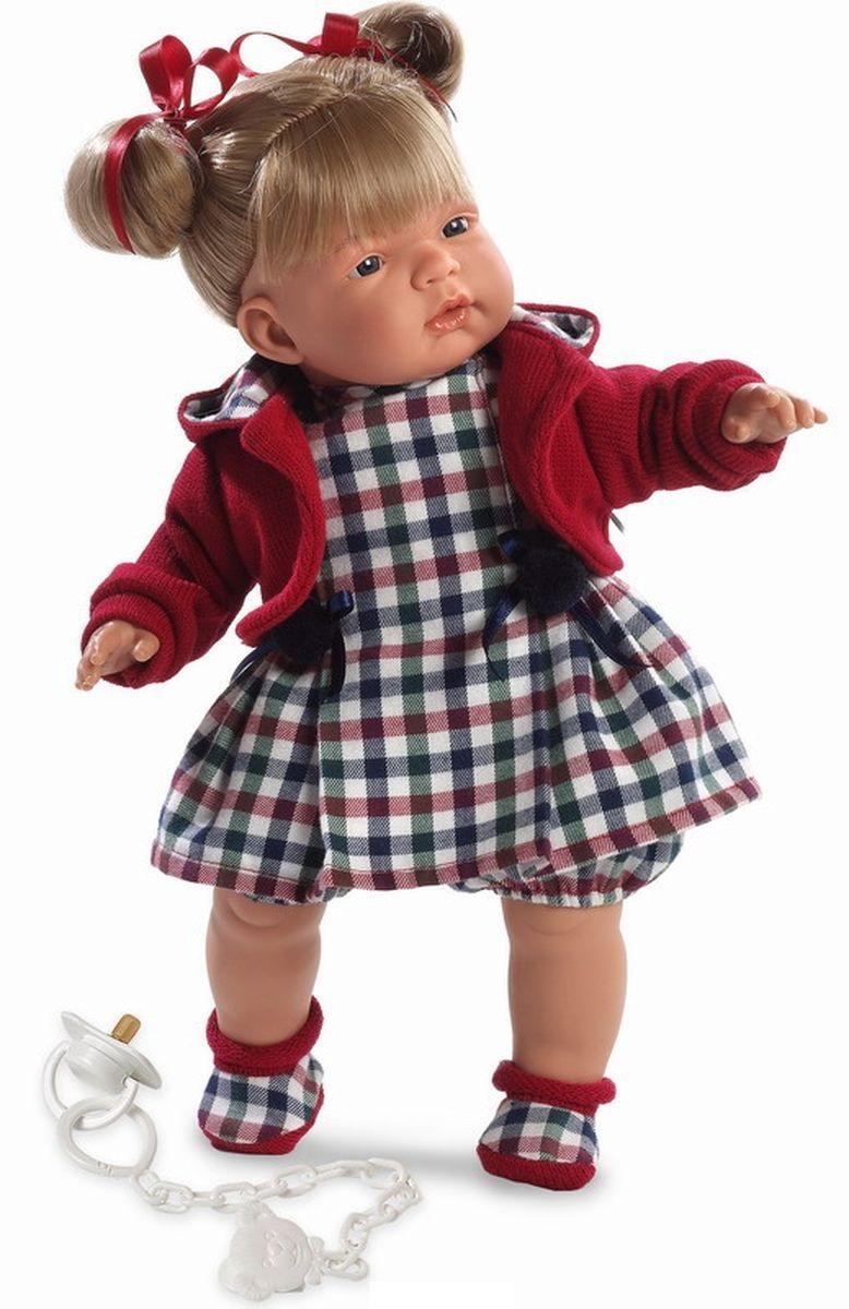 Кукла Катя в клетчатом платье, 38 см.Испанские куклы Llorens Juan, S.L.<br>Кукла Катя в клетчатом платье, 38 см.<br>