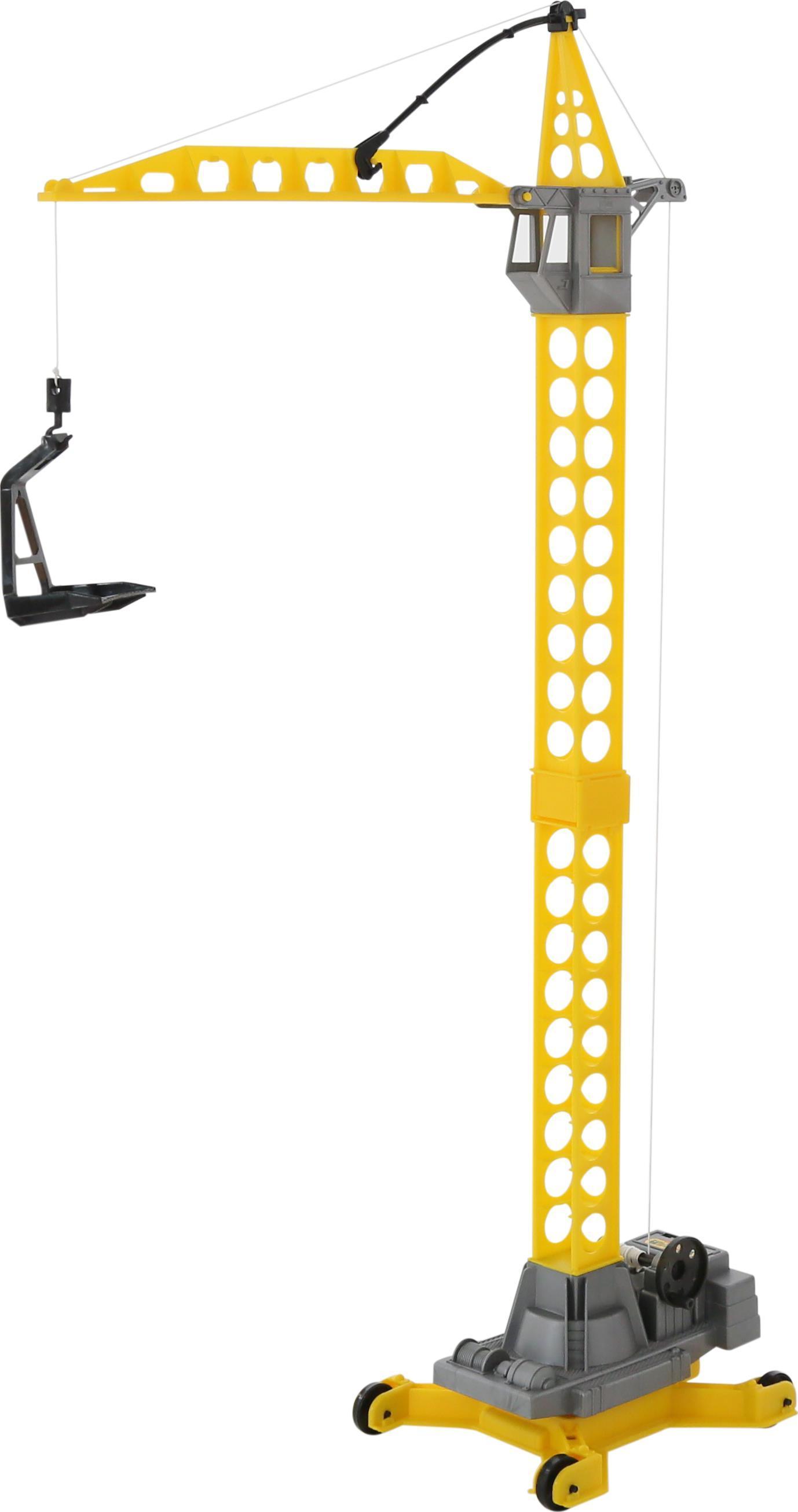Башенный кран на колёсиках – Агат, большойИгрушечные подъемные краны<br>Башенный кран на колёсиках – Агат, большой<br>