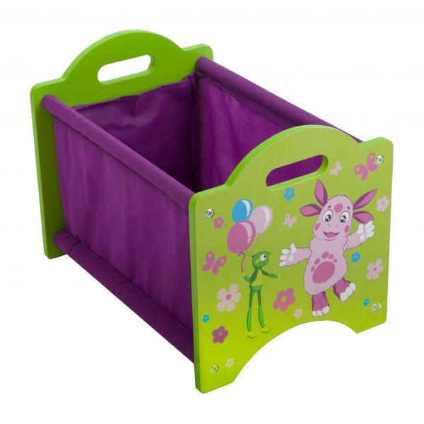 Ящик для хранения с изображением Лунтика и КузиКорзины для игрушек<br>Ящик для хранения с изображением Лунтика и Кузи<br>