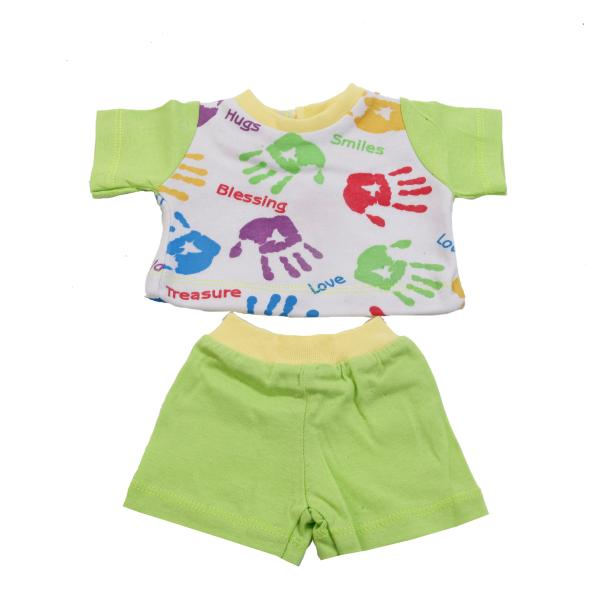Комплект одежды дл куклы - футболка и шортыОдежда дл кукол<br>Комплект одежды дл куклы - футболка и шорты<br>