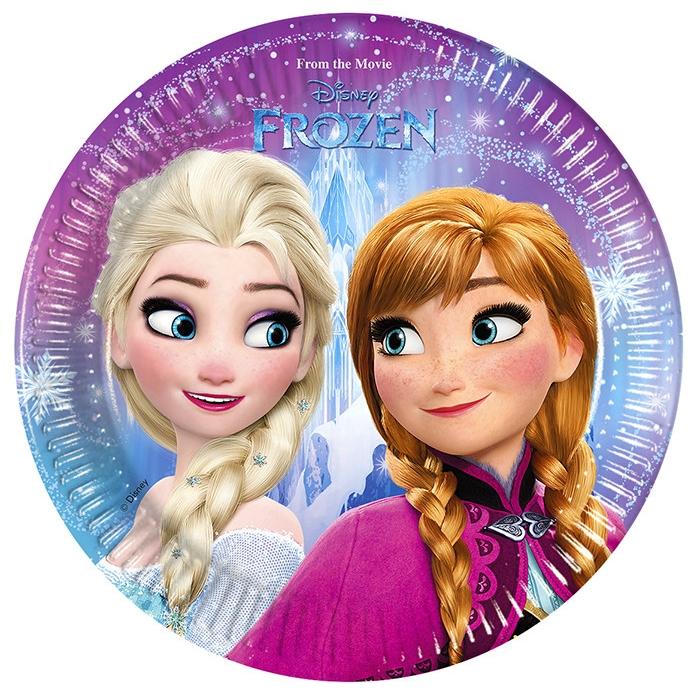 Набор тарелок Frozen - Северное сияние, 20см, 8 штукХолодное Сердце<br>Набор тарелок Frozen - Северное сияние, 20см, 8 штук<br>