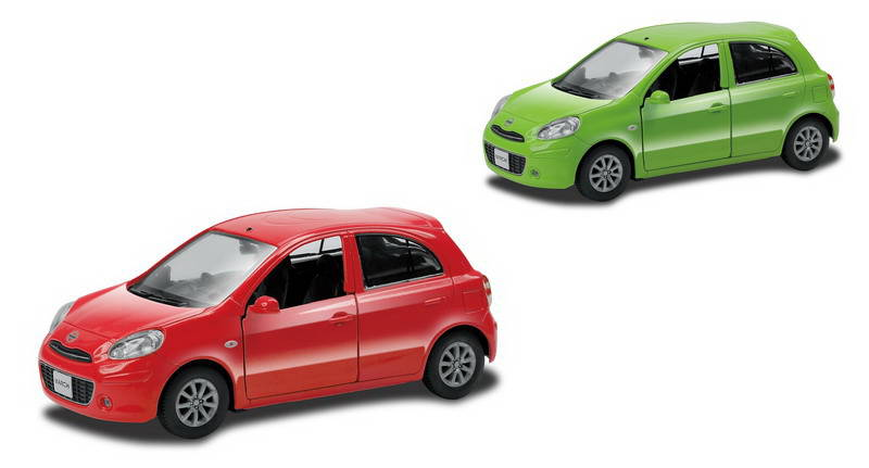 Металлическая инерционная машина RMZ City - Nissan March, 1:32, 2 цветаNISSAN<br>Металлическая инерционная машина RMZ City - Nissan March, 1:32, 2 цвета<br>