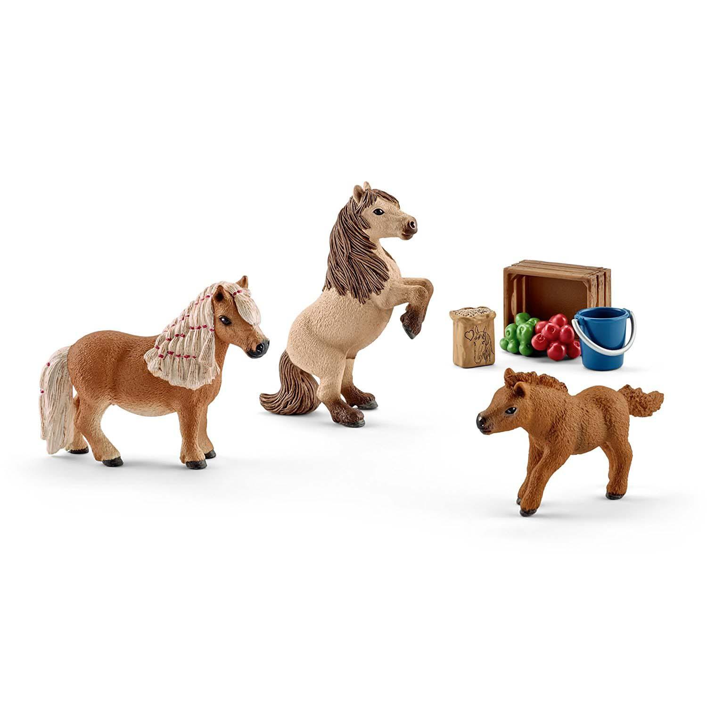 Игровой набор – Семья Шотландского пони, мини, Schleich  - купить со скидкой