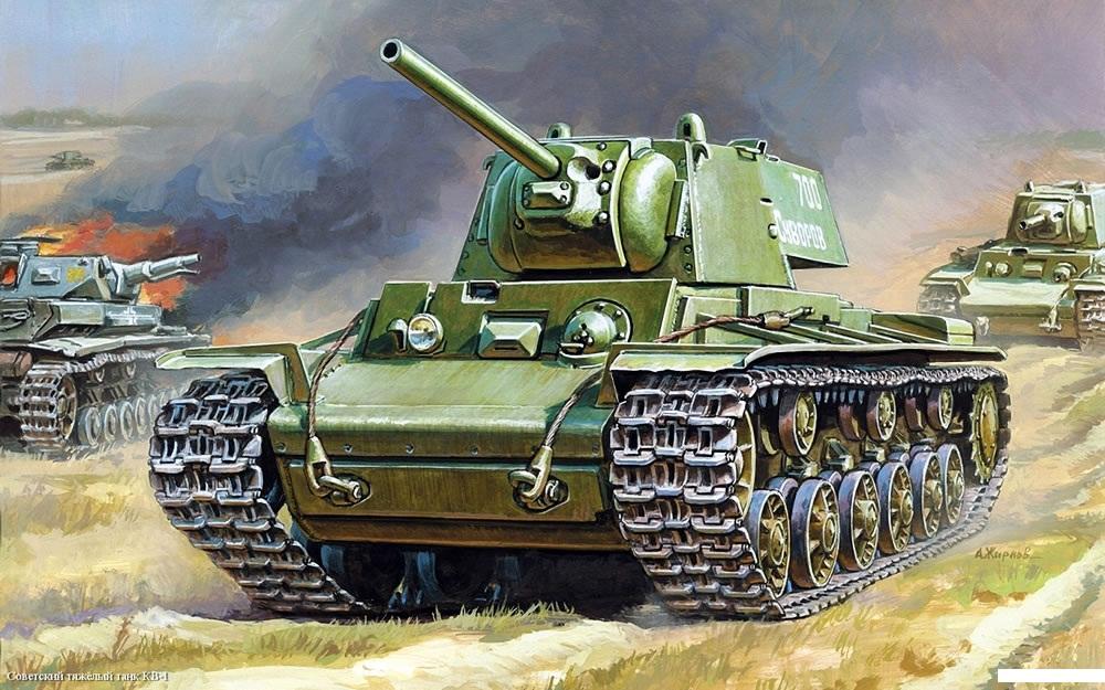 Модель сборная - Советский танк КВМодели танков для склеивания<br>Модель сборная - Советский танк КВ<br>