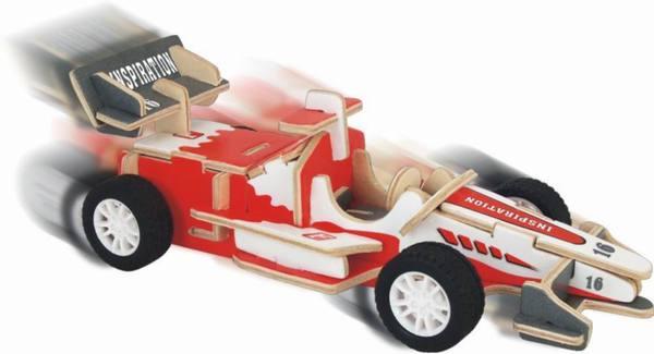 Модель деревянная сборная – Гоночный болид, с механизмомПазлы объёмные 3D<br>Модель деревянная сборная – Гоночный болид, с механизмом<br>
