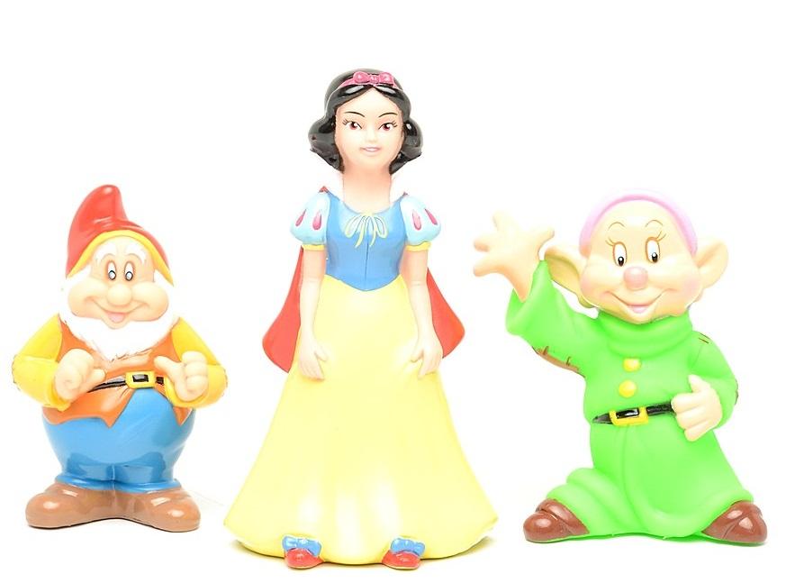 Купить Набор из 3-х игрушек для купания «Дисней»: Белоснежка и гномы, Играем вместе