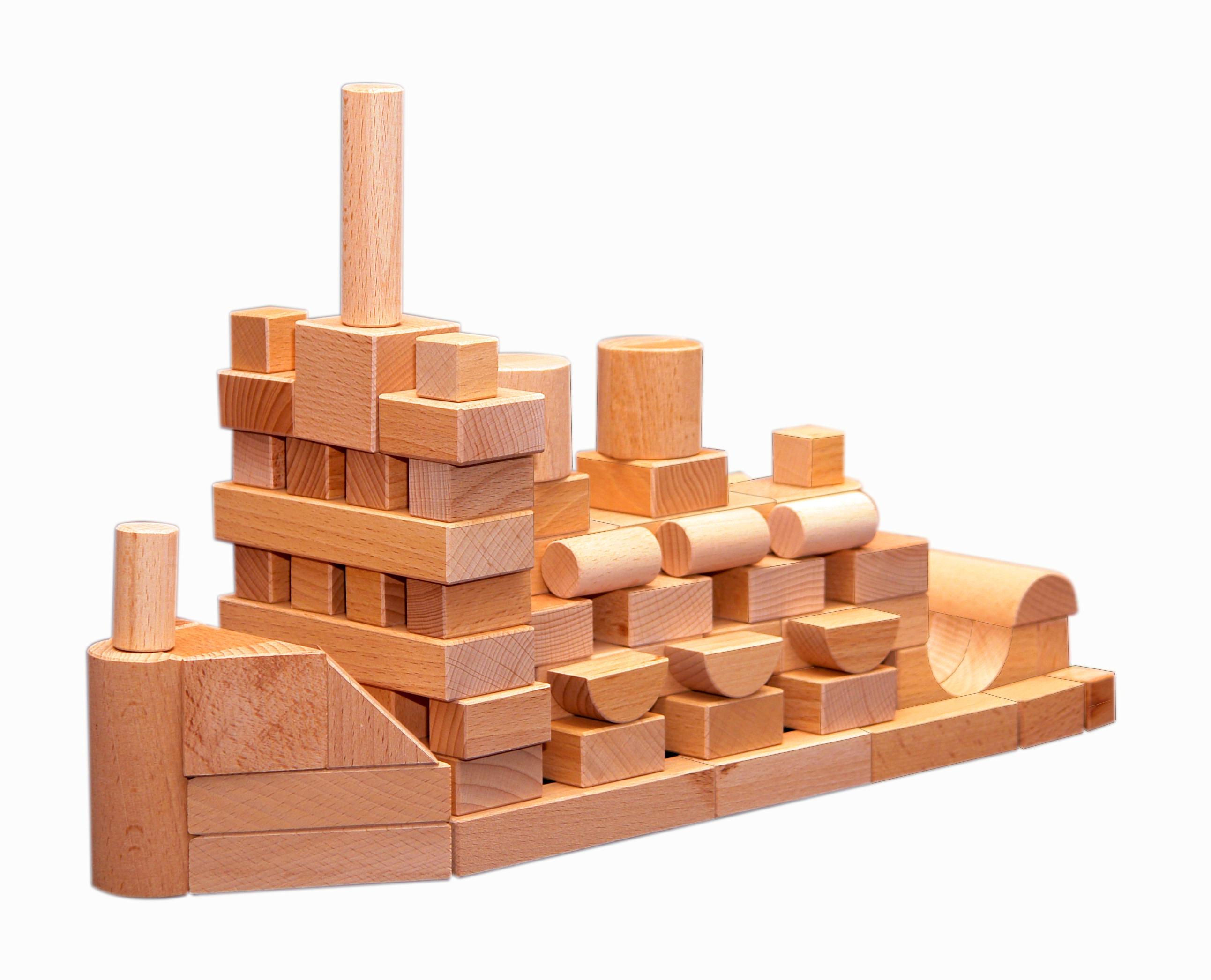 Конструктор деревянный не окрашенный по программе - Развитие, 100 деталейКубики<br>Конструктор деревянный не окрашенный по программе - Развитие, 100 деталей<br>