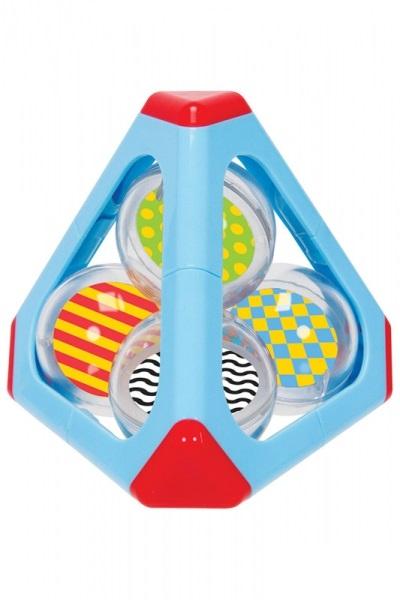 Погремушка Пирамида с шарами, 11 см.Детские погремушки и подвесные игрушки на кроватку<br>Погремушка Пирамида с шарами, 11 см.<br>