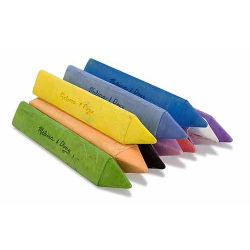 Купить Набор треугольных мелков для рисования, 10 цветов, Melissa&Doug