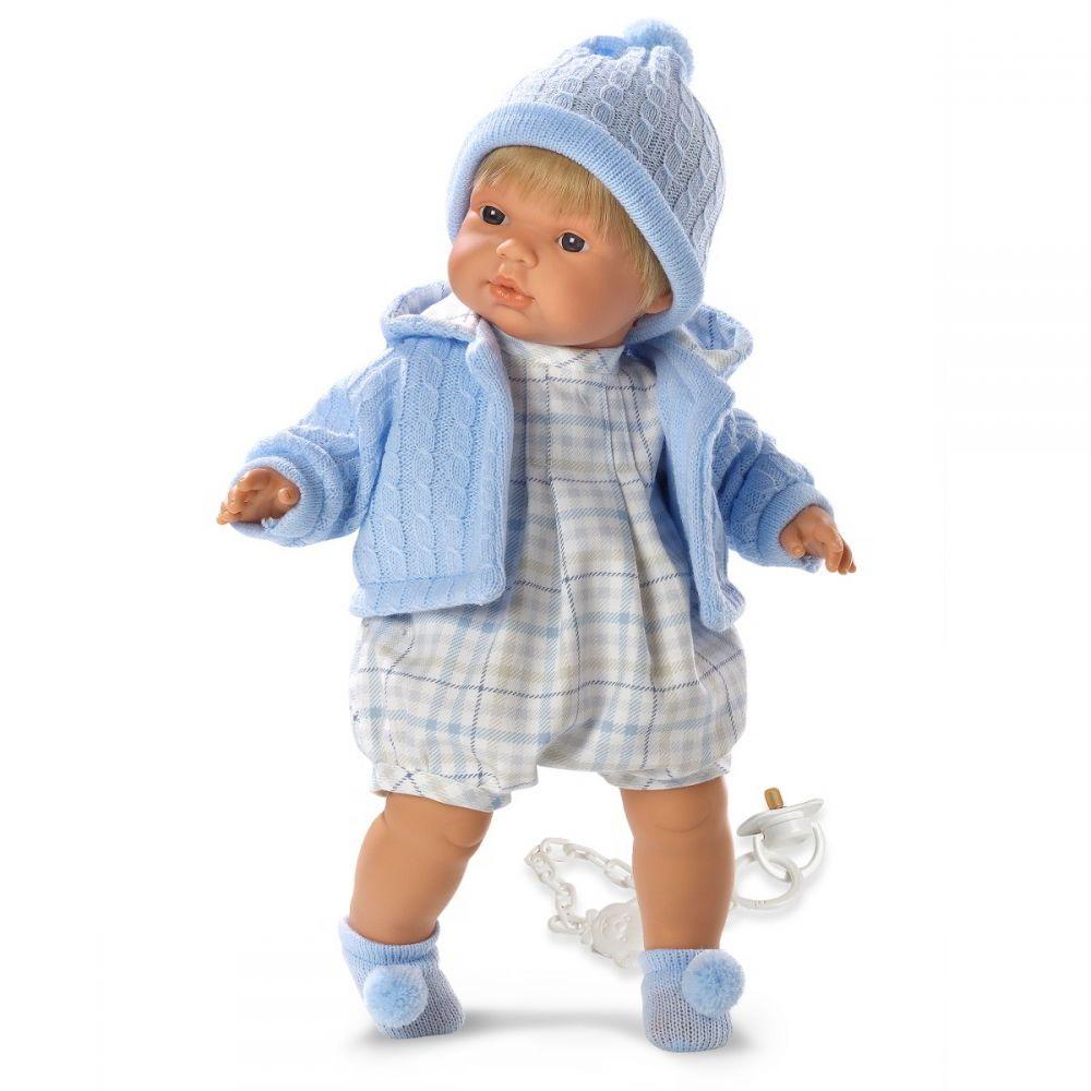 Кукла Пабло в голубой кофточке 38 см., со звукомИспанские куклы Llorens Juan, S.L.<br>Кукла Пабло в голубой кофточке 38 см., со звуком<br>
