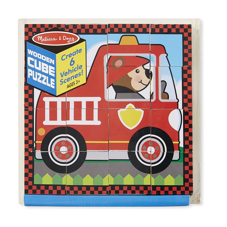 Пазл из кубиков - ТранспортПазлы для малышей<br>Пазл из кубиков - Транспорт<br>