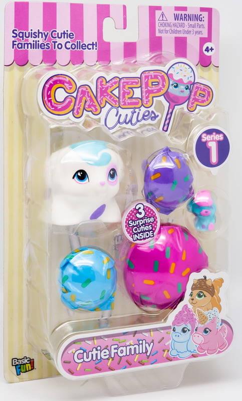 Купить Набор игрушек Cake Pop Cuties Families 1 серия - Котята и Щенки, 3 штуки в наборе, Basic Fun