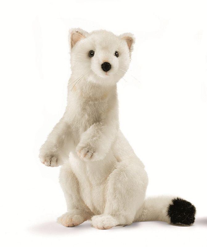 Мягкая игрушка - Горностай зимний окрас, 30 см.Дикие животные<br>Мягкая игрушка - Горностай зимний окрас, 30 см.<br>