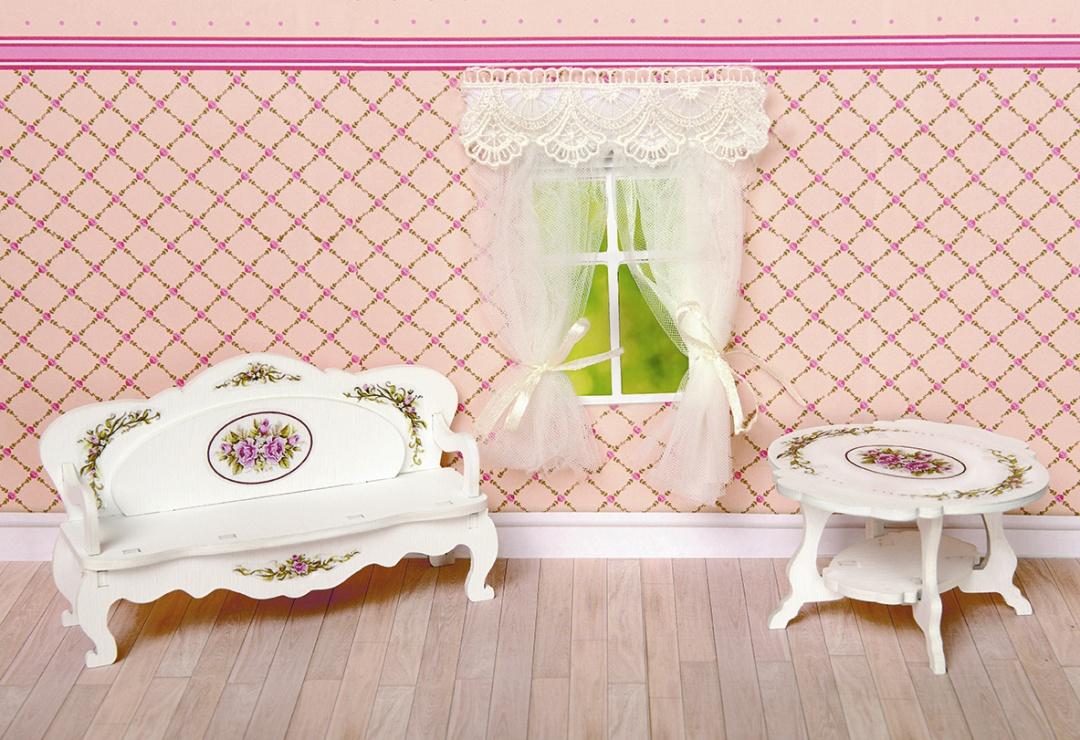 Купить Набор мебели для кукольного дома – Гостиная: чайный столик, диван, коллекция Прованс, ЯиГрушка