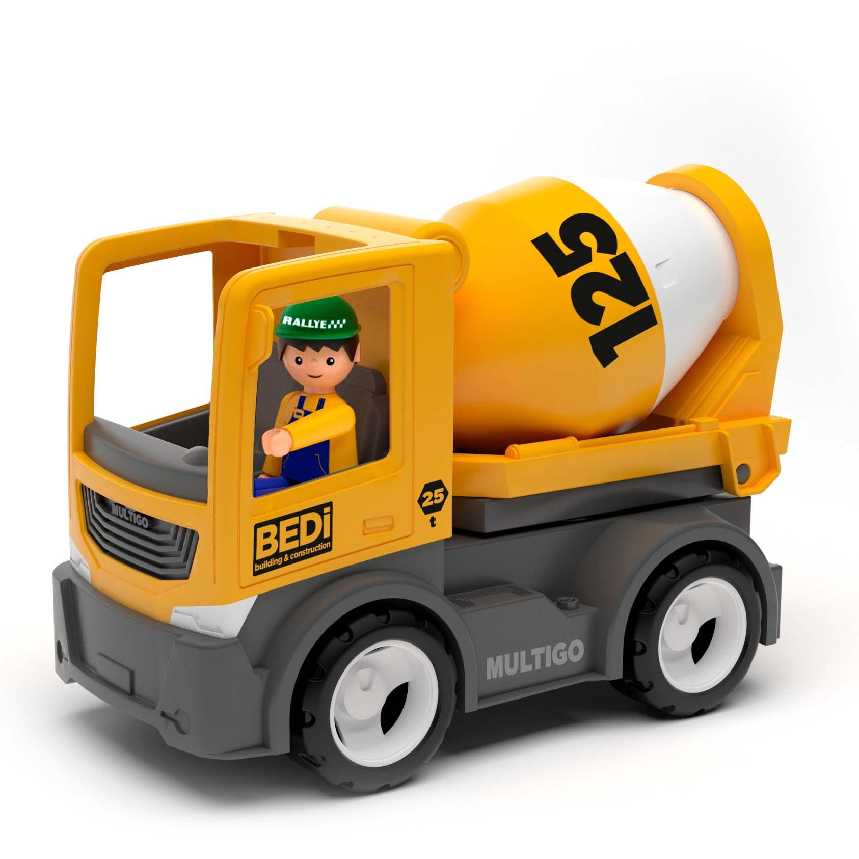 Купить Строительный грузовик-бетономешалка с водителем, 22 см, Efko
