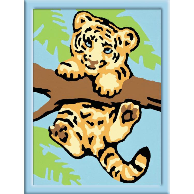 Раскрашивание по номерам «Тигренок»Раскраски по номерам Schipper<br>Раскрашивание по номерам «Тигренок»<br>
