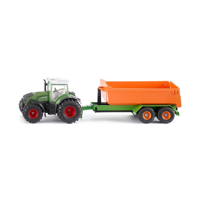 Купить Металлический трактор Fendt с крюковым прицепом-кузовом, 1:50, Siku