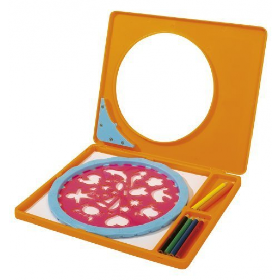 Набор для рисования с карандашами и трафаретамиНаборы для рисования<br>Набор для рисования с карандашами и трафаретами<br>