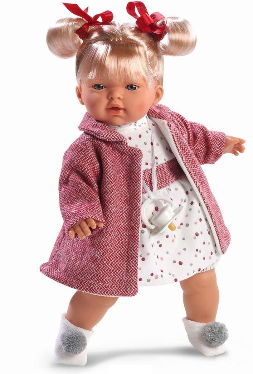 Кукла Татьяна в красном пальто, 33 см.Испанские куклы Llorens Juan, S.L.<br>Кукла Татьяна в красном пальто, 33 см.<br>