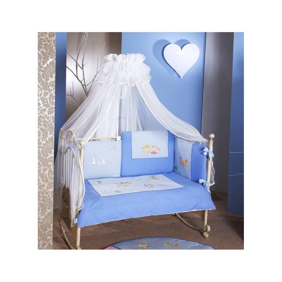 Комплект постельного белья Romeo, 6 предметов, голубойДетское постельное белье<br>Комплект постельного белья Romeo, 6 предметов, голубой<br>