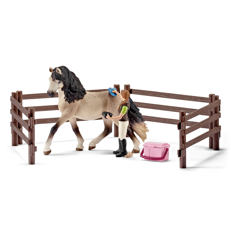Купить Игровой набор - Уход за животными - Андалузская лошадь, Schleich