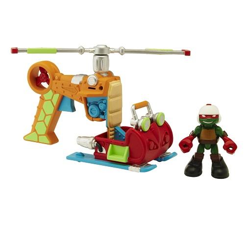 Купить Фигурка Черепашки-ниндзя Раф с вертолетом, серия Half Shell Hero, Playmates