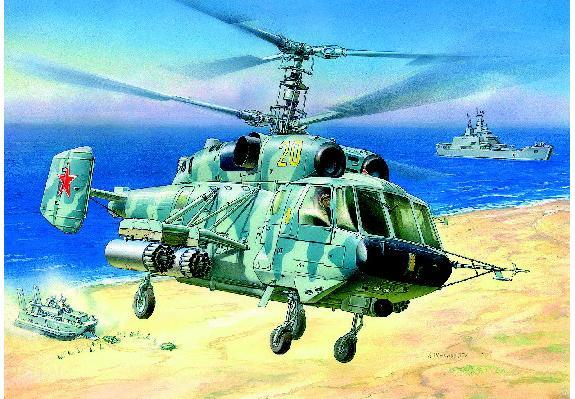 Модель для склеивания - Вертолёт Ка-29Модели вертолетов для склеивания<br>Модель для склеивания - Вертолёт Ка-29<br>