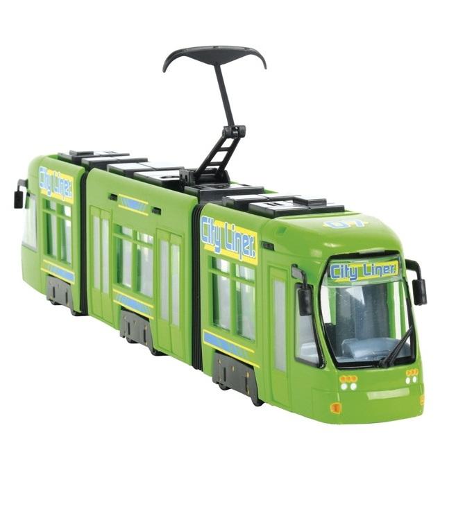 City: городской трамвай, 46 см. - Пожарные машины, автобусы, вертолеты и др. техника, артикул: 7940