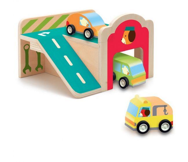 Деревянный конструктор – ГаражДетские парковки и гаражи<br>Деревянный конструктор – Гараж<br>