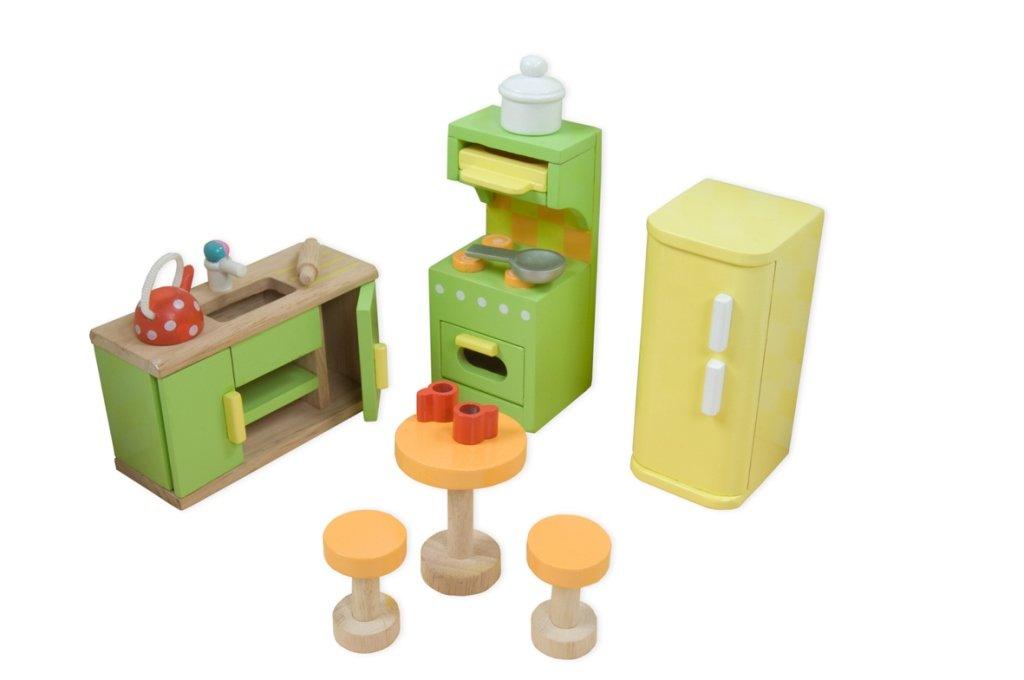 Набор кукольной мебели для кухни - Сахарная сливаКукольные домики<br>Набор кукольной мебели для кухни - Сахарная слива<br>