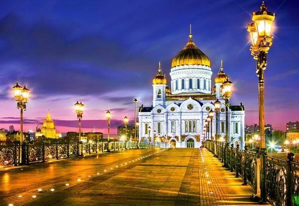 Пазл Castorland 1000 деталей, Храм Христа Спасителя, Москва от Toyway