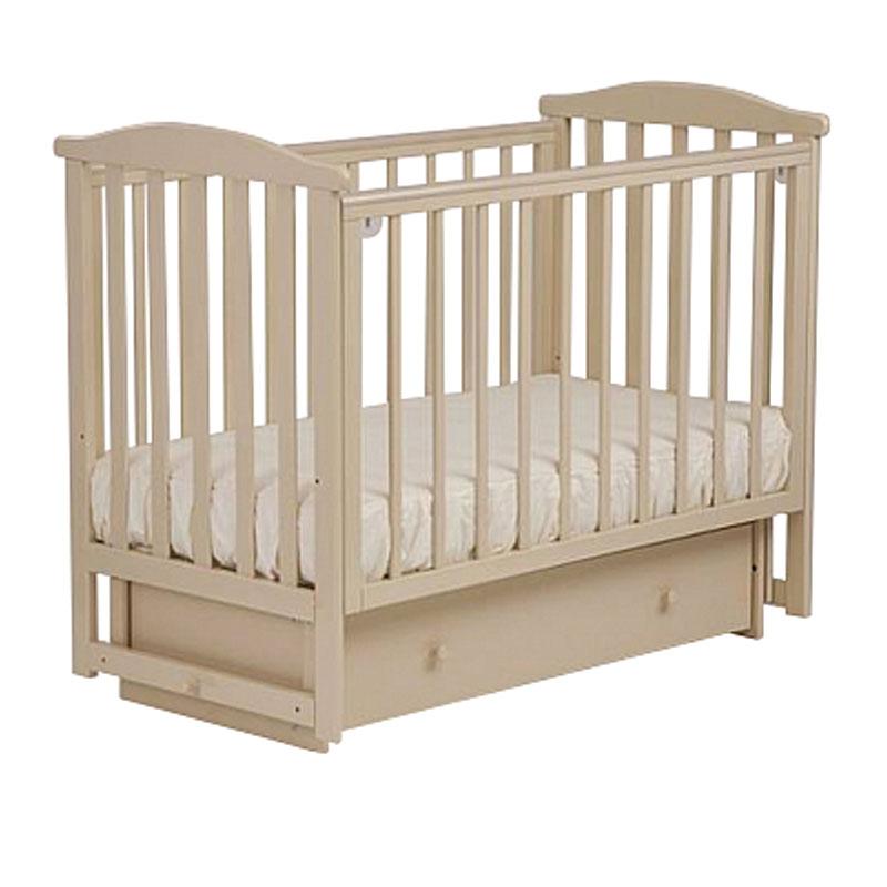 Кровать детская Лель АБ 15.2 Лютик, маятник поперечный, ваниль