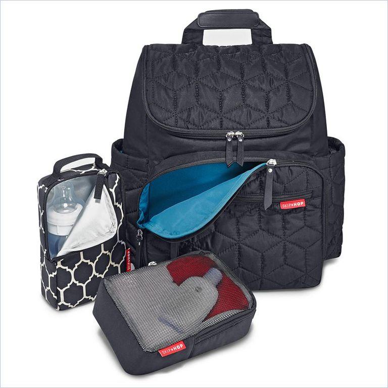 Рюкзак для мамы на коляску с аксессуарами - Черный от Toyway