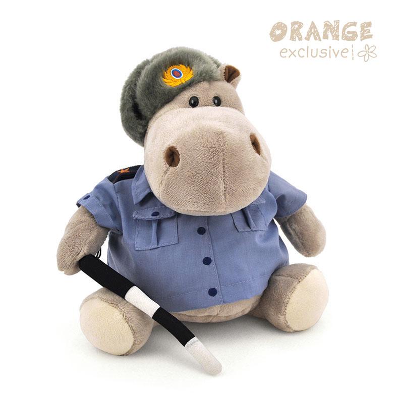 Мягкая игрушка - Бегемот – Полицейский, 20 смДикие животные<br>Мягкая игрушка - Бегемот – Полицейский, 20 см<br>