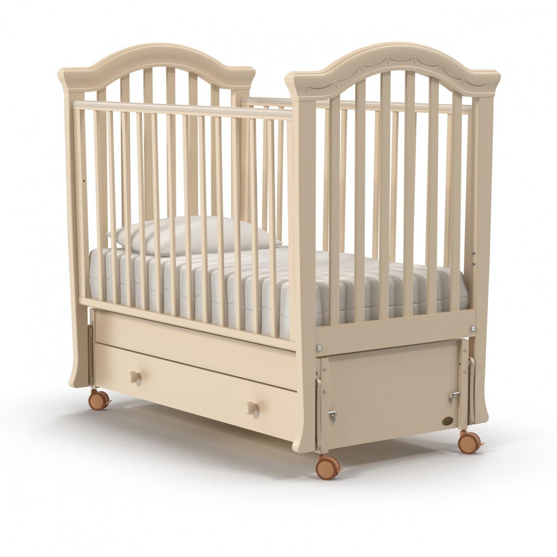 Купить Детская кроватка – Nuovita Perla swing, продольный. Avorio/Слоновая кость