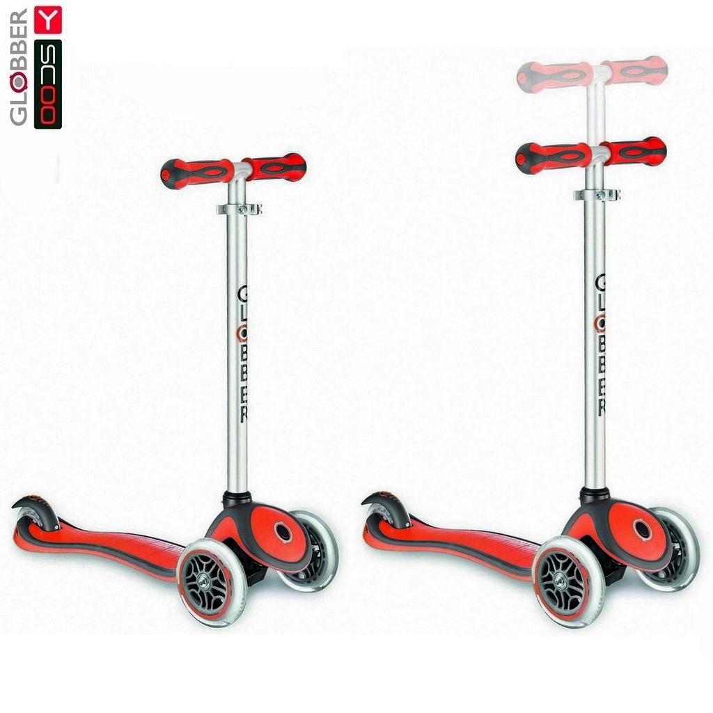 Купить Самокат Y-Scoo RT Globber My Free New Technology с блокировкой колес, красный