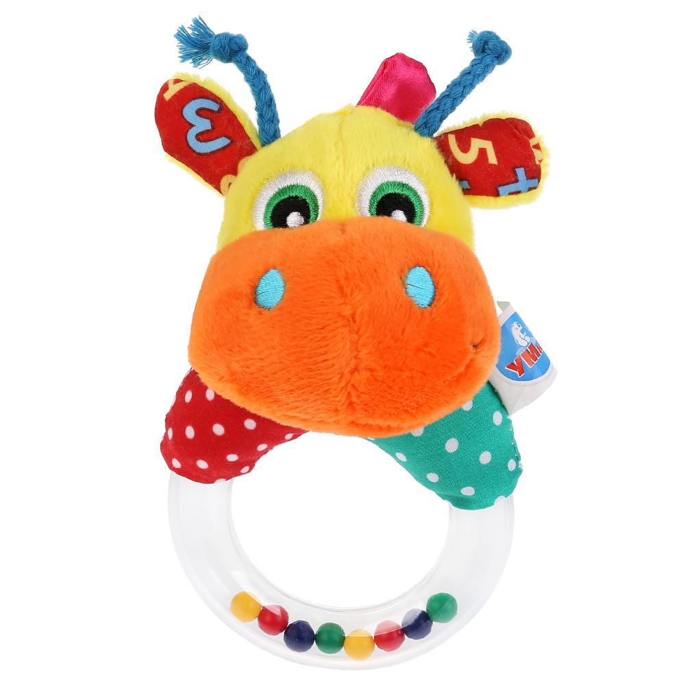 Погремушка на кольце - Смешной жирафик