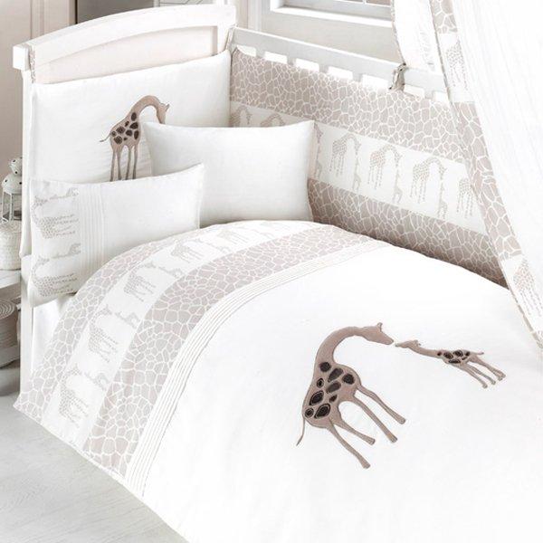 Комплект постельного белья из 3 предметов серия - GiraffeДетское постельное белье<br>Комплект постельного белья из 3 предметов серия - Giraffe<br>
