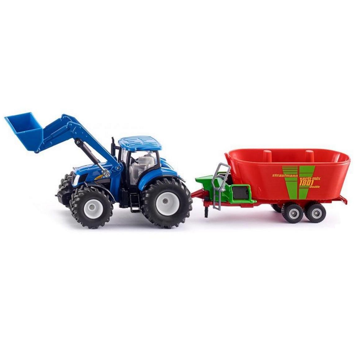 Купить Трактор New Holland с фронтальным погрузчиком Strautmann, масштаб 1:50, Siku