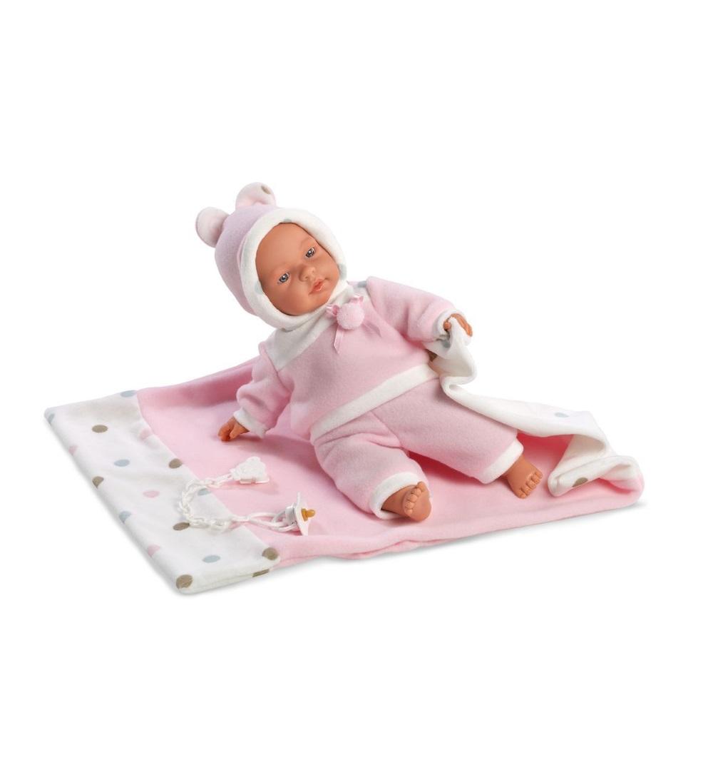 Кукла Люсия с одеялом и звуком 33 смИспанские куклы Llorens Juan, S.L.<br>Кукла Люсия с одеялом и звуком 33 см<br>
