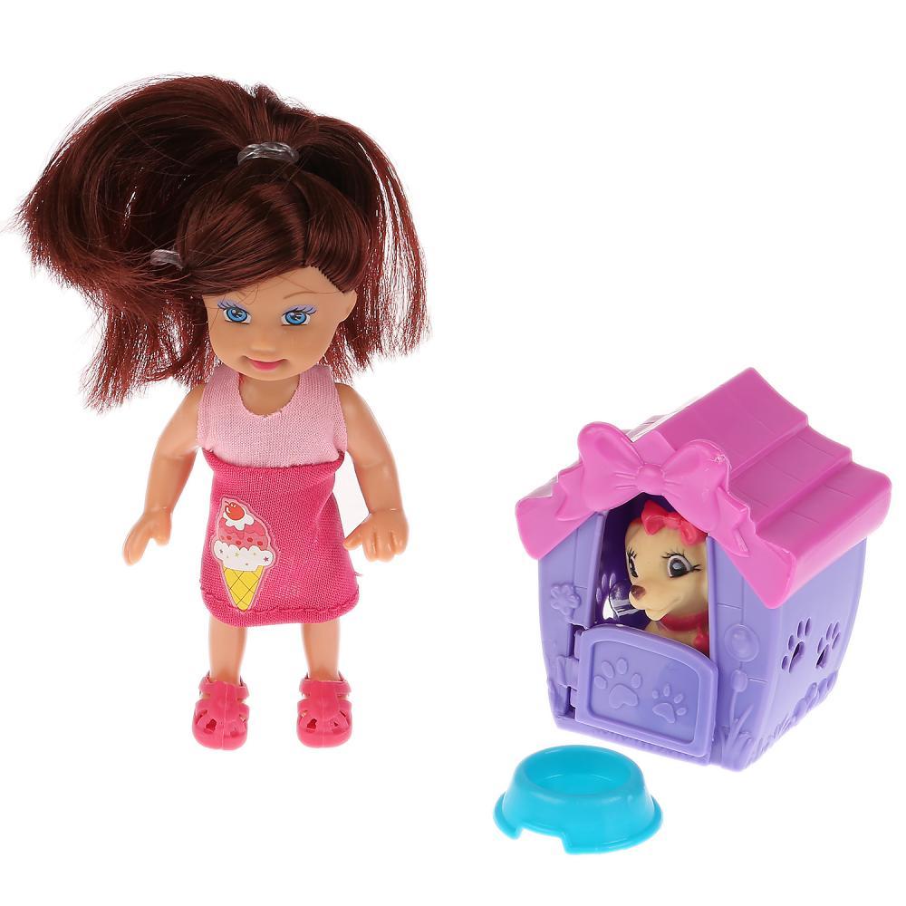 Купить Кукла – Машенька, 12 см, будка, питомец, аксессуары, Карапуз